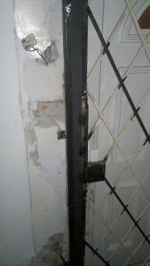 biztonsági rács, ajtórács megerősítése